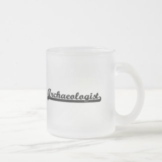 Archaeologist Artistic Job Design Frosted Glass Mug