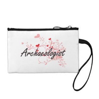 Archaeologist Artistic Job Design with Hearts Change Purses