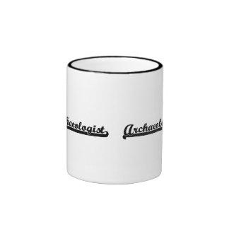 Archaeologist Classic Job Design Ringer Coffee Mug