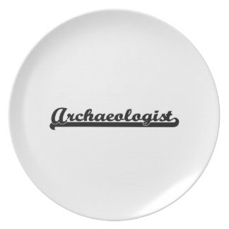 Archaeologist Classic Job Design Plate