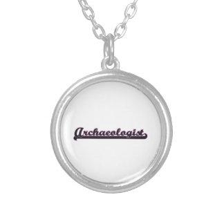 Archaeologist Classic Job Design Round Pendant Necklace