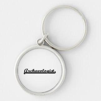 Archaeologist Classic Job Design Silver-Colored Round Key Ring