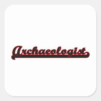 Archaeologist Classic Job Design Square Sticker