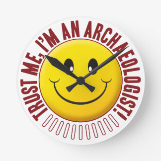 Archaeologist Trust Smiley Clock