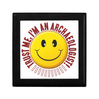 Archaeologist Trust Smiley Small Square Gift Box