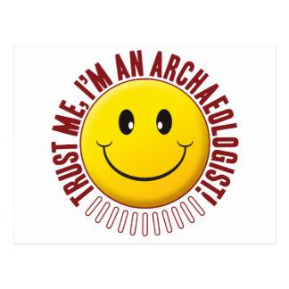 Archaeologist Trust Smiley Postcard