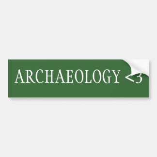 Archaeology <3 bumper stickers