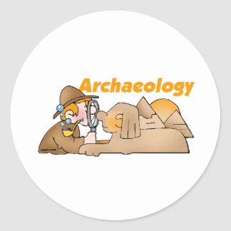 Archaeology Classic Round Sticker