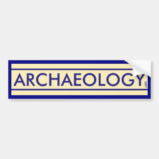 Archaeology Department Bumper Sticker