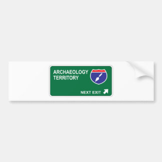 Archaeology Next Exit Bumper Sticker