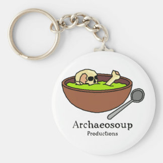 Archaeosoup Badge Basic Round Button Key Ring