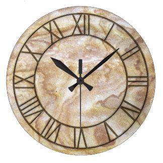 Archaic Marble Print Wall Clock