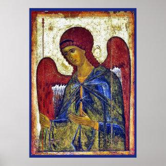 Archangel Gabriel Byzantine Art Poster