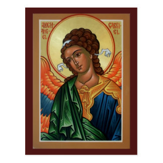 Archangel Gabriel Prayer Card Postcard