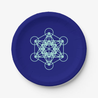 Archangel Metatron Sacred Geometry Paper Plate
