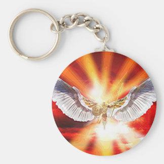 Archangel Michael Basic Round Button Key Ring