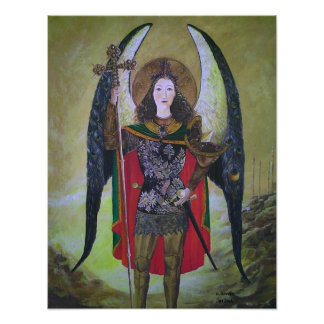 Archangel Michael by S Lewis Poster
