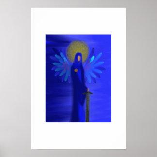 Archangel Michael - Divine Protection Posters