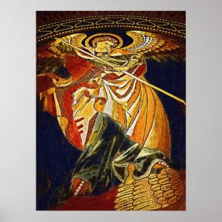 Archangel Michael Gothic, Kaiser Wilhelm Church Poster