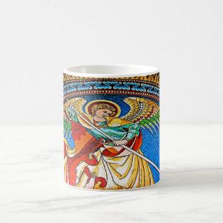 Archangel Michael Mosiac, Kaiser Wilhelm Church Basic White Mug