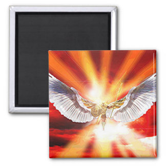 Archangel Michael Square Magnet