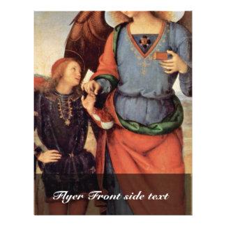 Archangel Raphael And Tobias Small 21.5 Cm X 28 Cm Flyer