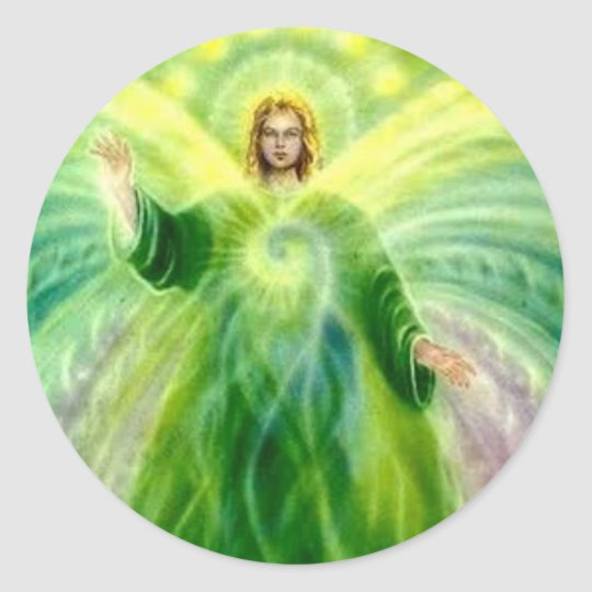 Archangel Raphael Healing Light Classic Round Sticker