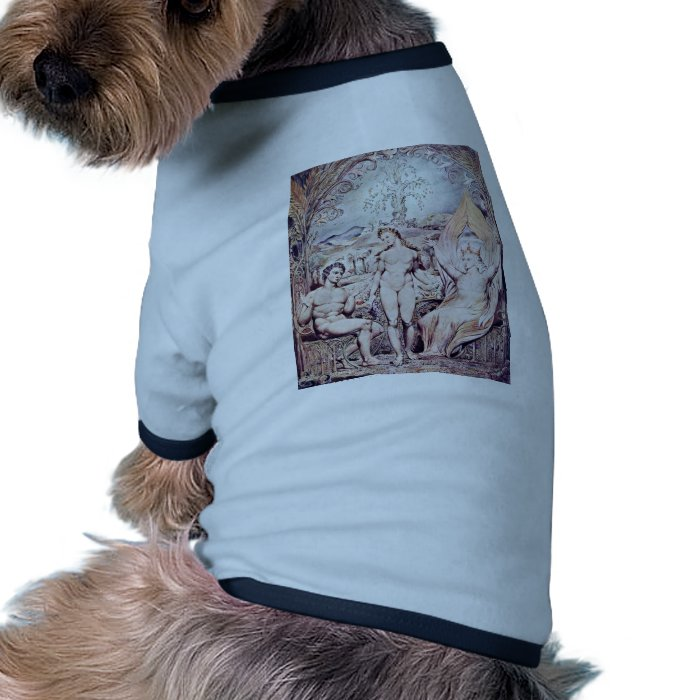 Archangel Raphael With Adam And Eve By Blake Ringer Dog Shirt