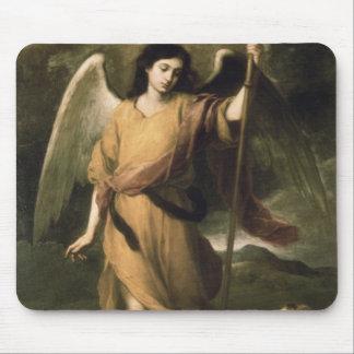 Archangel Raphael with Bishop Domonte Mouse Mat