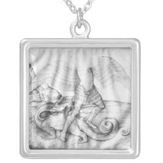 Archangel St. Michael, c.1450 Silver Plated Necklace