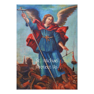 Archangel St. Michael Protect Us Poster