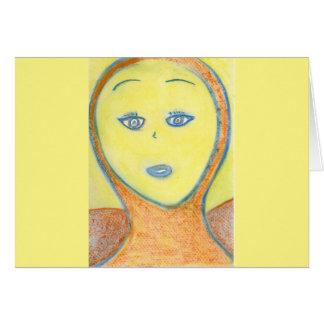 Archangel Uriel, Chalk Drawing, Art Greeting Card