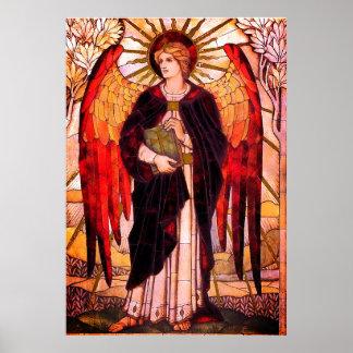 Archangel Uriel Christian Art Poster