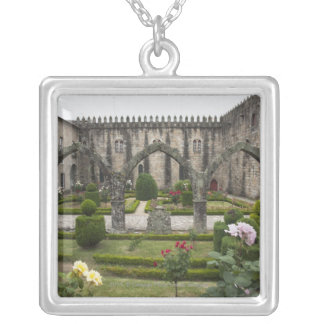 Archbishop Palace Of Braga With Garden Silver Plated Necklace