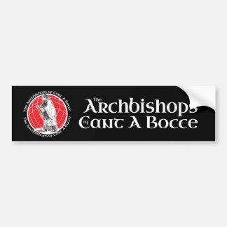 Archbishops of Cant A Bocce Black Bumper Bumper Sticker