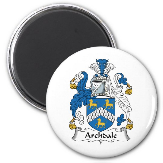 Archdale Family Crest 6 Cm Round Magnet