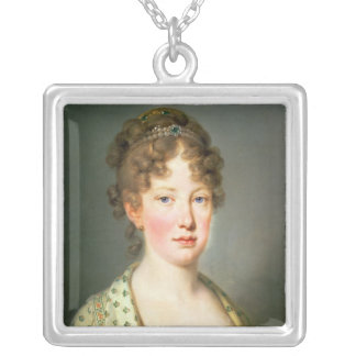 Archduchess Leopoldina of Austria Silver Plated Necklace