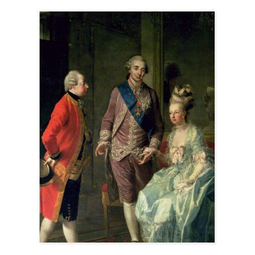 Archduke Maximilian Franz visiting Marie Postcards