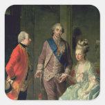 Archduke Maximilian Franz visiting Marie Square Sticker