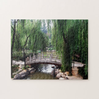 Arched Bridge in peaceful park Jigsaw Puzzle