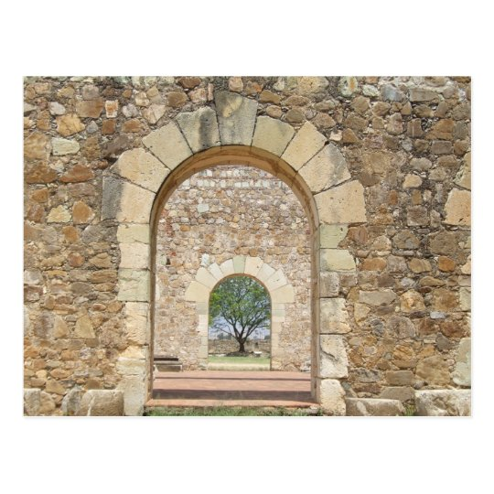 Arched Doors At The Old Fort Postcard