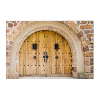 Arched Doorway, France Acrylic Wall Art