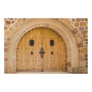 Arched Doorway, France Wood Wall Art