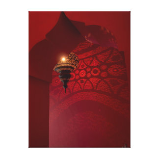 Arched entrance and illuminated lantern canvas prints