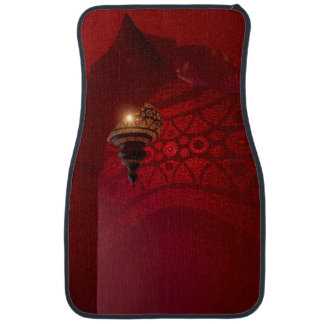 Arched entrance and illuminated lantern car mat