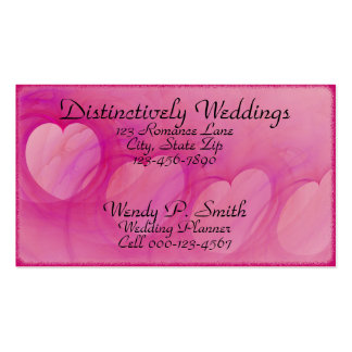 Arched Heart Line Business Card