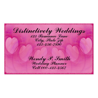 Arched Heart Line Business Cards