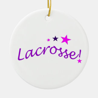 Arched Lacrosse with Stars Christmas Ornament