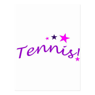 Arched Tennis with Stars Postcard