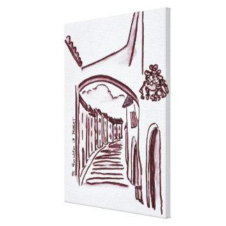 Arched Walkway | Saint-Guilhem-Le-Desert, France Canvas Print